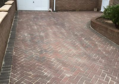Cleaned and Sanded Driveway